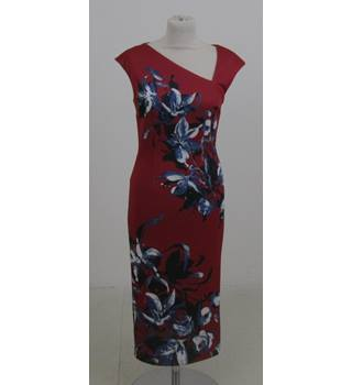 NWOT Per Una Size:6 red floral sheath dress