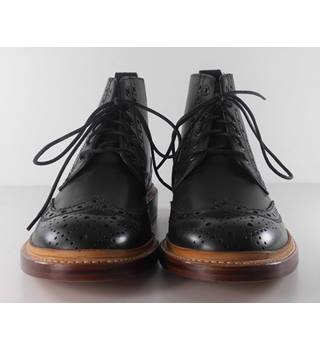Marks & Spencer's Size: 6 - Black Brogue Lace Up Leather Boots