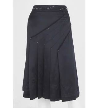 Whistles, size 12 black silk skirt