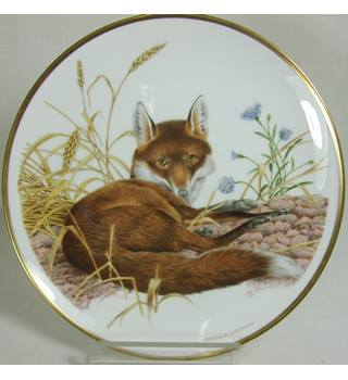 Wedgwood Spink - Fox Plate by Patrick A Oxenham -