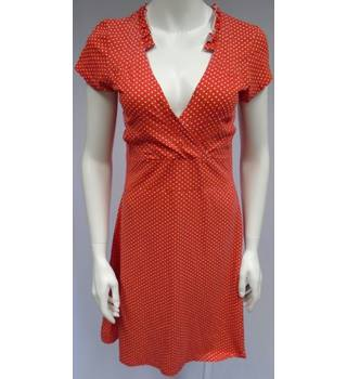 Avoca Anthology - Size M - Red And White - Polka Dot - Thigh Length - Dress