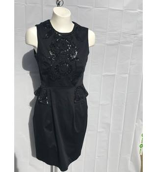 French Connection Black Embroidered Dress French Connection - Size: 14 - Black. Ref #28