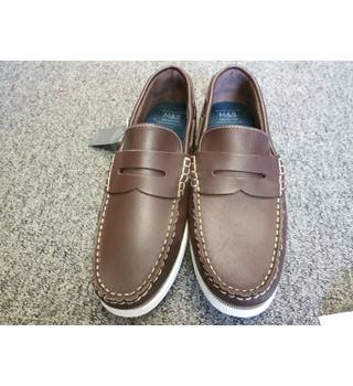M&S Men's Loafers, brown, size 11 M&S Marks & Spencer - Size: 11 - Brown - Loafers