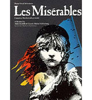 """LES MISERABLES"" VOCAL SELECTIONS PT. 1-2 VOCAL SCORE FOR PIANO, VOICE AND GUITAR"