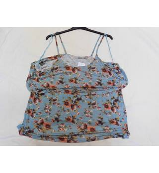 Tu floral vest top TU - Size: 24 - Green - Blouse