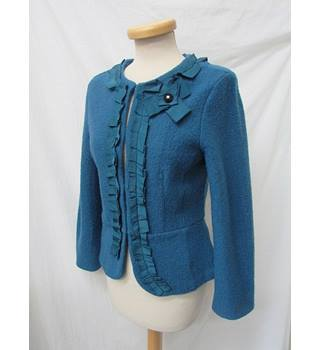 Fenn Wright Mason - Size: 10 - Teal- Merino Wool Jacket/Cardigan