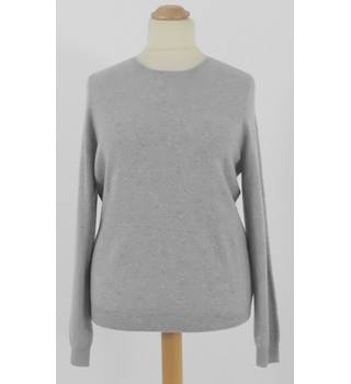 NWOT Marks & Spencer Silver Grey 100% Luxury Cashmere Round Neck Neck Jumper Size 22