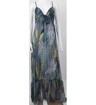 Diane Von Furstenberg Size: M 100% Silk Beach Cover Up Dress