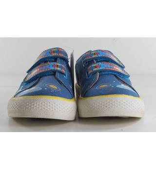 M&S Kids Size 12 Blue Space Patterned Flashing Sneakers