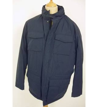 "M & S Size:  XXL, 50"" chest, regular fit Navy Blue Casual/Outdoor Nylon With Polyester Fleece Lining Field Jacket"