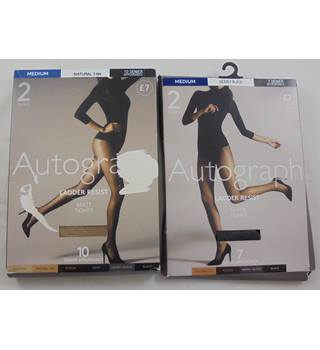 M&S Marks & Spencer - Size: M - 2 Packs Autograph Tights