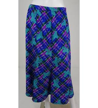 Vintage 1980's Gina Bacconi Size 16 Multi-coloured Patterned Skirt