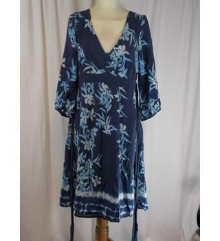 Monsoon -  Size 10 - Blue Floral Dress