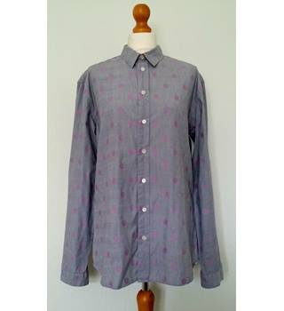 Paul Smith - Size L - Grey Pink Spotted - Slim Fit Shirt