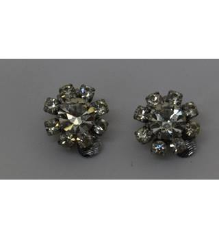Small diamante clip on earrings Unbranded - Size: Small