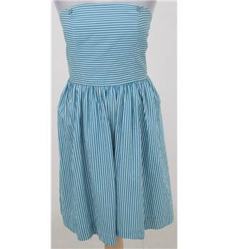 Tom Joule size: 8 blue/white striped strapless dress