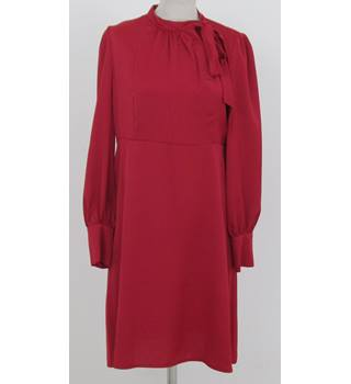 NWOT: M&S Collection: Size 18 Regular:  Red pussy bow tie neck dress