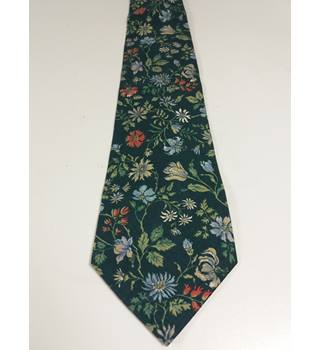 Liberty Tana Lawn Green With Floral Print Tie