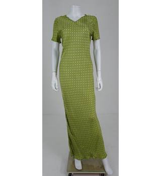 Vintage 1990's Whistles Size 12 Apple Green Long Dress