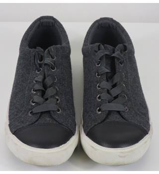 Fiore Dark Grey Fabric Shoes Fiore - Size: 6 - Grey - Lace-up shoes