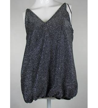 Next Women's Sparkly Grey Top Next - Size: 12 - Grey