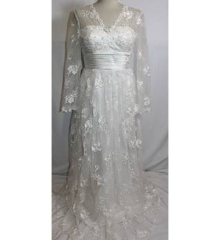 "Wan Mei Size 36"" chest White Wedding Dress"