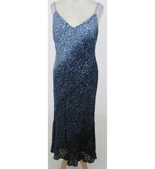Phase Eight: Size 14:  Blue part silk evening dress