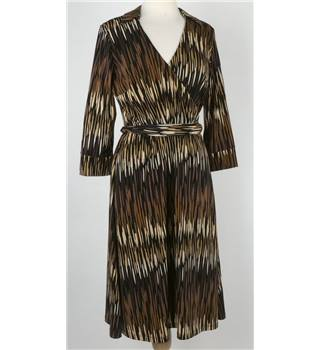 Planet -  size 14 - Brown striped shirt dress.