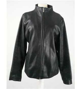 Sally & John size: 10 black leather jacket