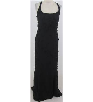Browns & Co: Size 6: Black beaded evening dress