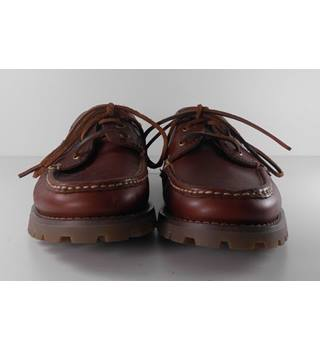 NWOT M&S Blue Harbour Size 8 Brown Leather Boat Shoes