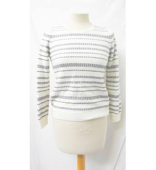 M&S Collection - Size: 12 - Black & white - Cashmere Jumper