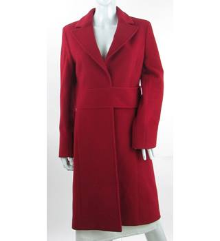 Whistles - Size: 12 - Red - Smart wool/cashmere mix jacket / coat
