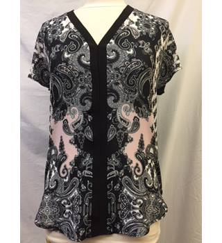 Loose Fit Paisley Print Top from M & Co, Size 10