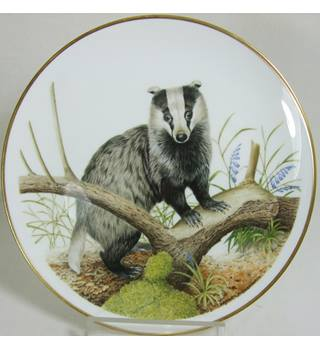 Wedgwood Spink - Badger Plate by Patrick A Oxenham -