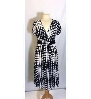 NEXT B&W Wrap Dress