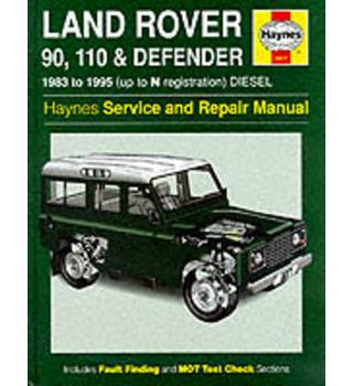 Land Rover 90/110 and Defender Service and Repair Manual