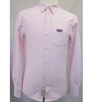 Superdry Size: Medium Pink & White striped Shirt Superdry - Size: M - Pink - Long sleeved