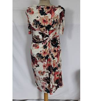 Per Una Floral Midi Dress Size 8 M&S Marks & Spencer - Size: 8 - Multi-coloured - Full length dress