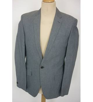 "Tommy Hilfiger Size: M, 38"" chest, slim fit Basalt Grey With Fine Pinstripe Stylish Linen & Cotton Blend Single Breasted Jacket"