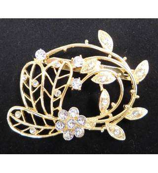 Large Gold Colour Brooch
