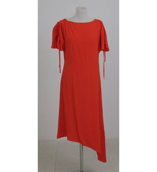 NWOT: M&S Collection: Size 8:  Red asymmetric dress