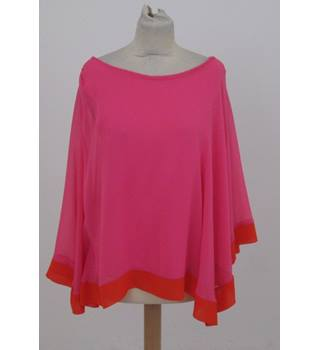 River Island - Size: 10 - Pink Assymetric Top