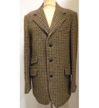 Dunn & Co - Size L - Dogtooth Checked - Harris Tweed Jacket