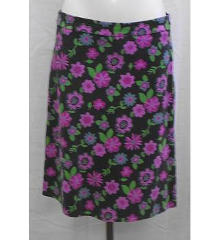 Mistral multicoloured needlecord A-line skirt Size12