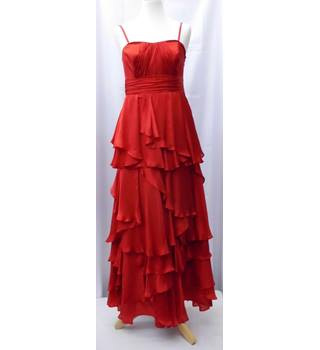 Monsoon Size 10 Silk  Red Dress Monsoon - Size: 10 - Red - Full length