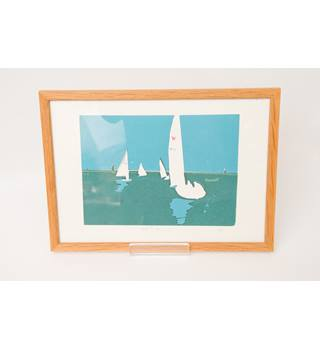 """Norfolk Sailing"" hand finished screen print by E B"