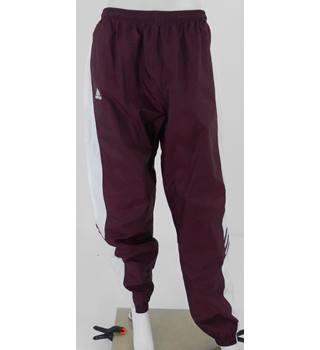 Adidas Size: L - Purple & White Tracksuit Bottoms