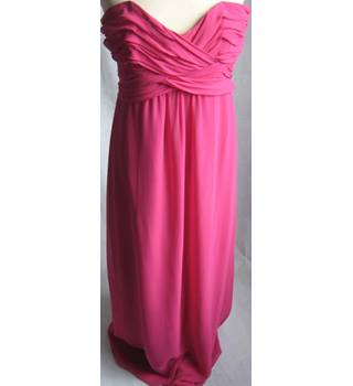 3ccce7ec4eb9 Ted Baker fuschia silk strapless evening dress size 4 Ted Baker - Size  14 -