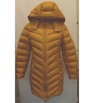 Long quilted coat with hood, Ochre, Size 12, New, M&S M&S Marks & Spencer - Size: 12 - Yellow - Casual jacket / coat
